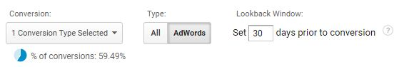 MCF adwords
